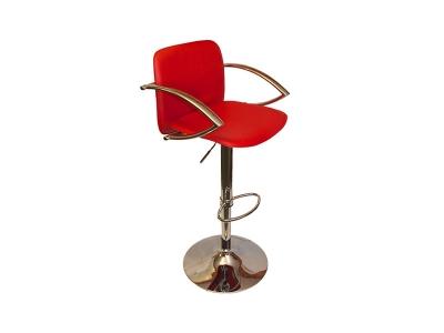 Барный стул Лого LM-3019 красный со спинкой и подлокотниками