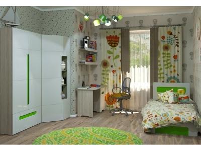 Детская Палермо-3 Юниор с зелеными вставками