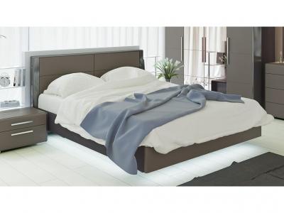 Двуспальная кровать Наоми СМ-208.01.01 Серый, Джут