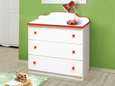 Комод с 3-мя ящиками Радуга красный