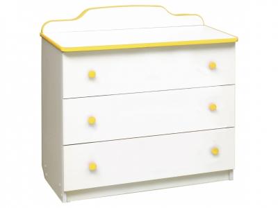 Комод с 3-мя ящиками Радуга желтый