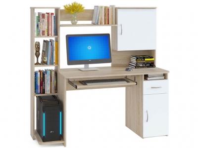 Компьютерный стол Сокол КСТ-11.1 Дуб Сонома/Белый