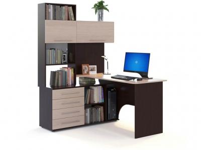 Компьютерный стол Сокол КСТ-14 левый Венге/Беленый дуб
