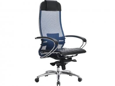 Компьютерное кресло Samurai S-1.04 синий с ковриком СSm-10