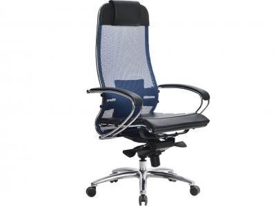 Компьютерное кресло Samurai S-1.04 синий с ковриком СSm-25