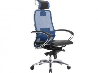 Компьютерное кресло Samurai S-2.04 синий с ковриком СSm-10