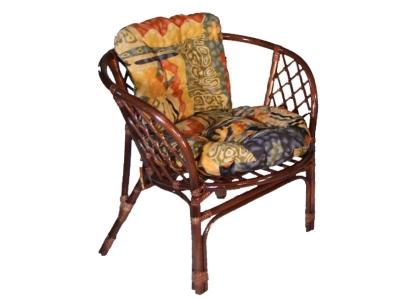 Кресло Багама молочный шоколад с цветной подушкой