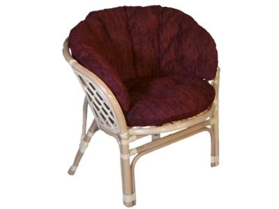 Кресло Багама натуральный с темной полной подушкой
