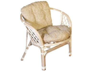 Кресло Багама натуральный со светлой подушкой