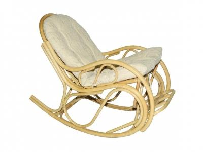 Кресло-качалка 05/04 с толстой подушкой натуральный