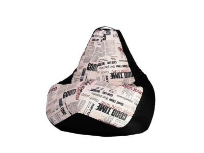 Кресло-мешок Газета-Black 4 кат.