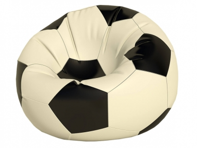 Кресло-мешок Мяч большой нейлон белый-черный