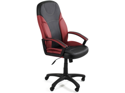 Кресло Twister кож.зам Чёрный + Бордо (36-6/36-7)