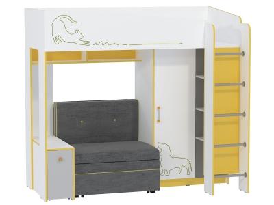 Кровать 11.20 Альфа Солнечный свет с диваном