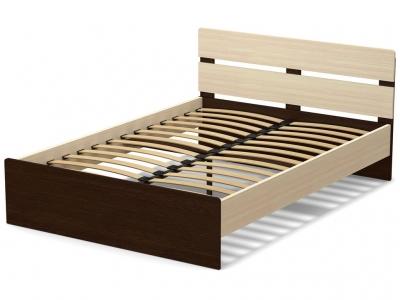 Кровать 140 Эксон с основанием Дуб млечный - Венге
