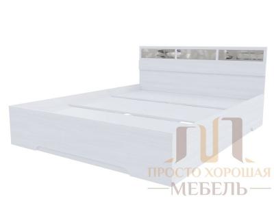 Кровать 1600 Николь 1 со стеклами