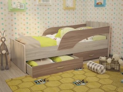 Кровать детская Антошка ясень шимо