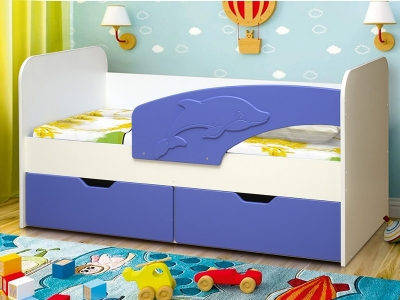 Кровать детская Дельфин МДФ матовый