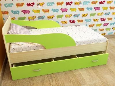 Кровать детская Максимка дуб-зеленый