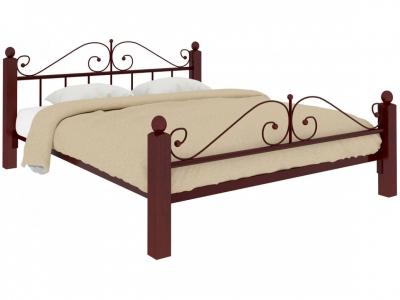 Кровать Диана Lux plus коричневая