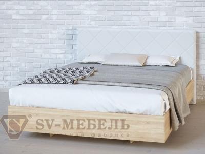 Кровать двойная №1 Ромб/Дуб Сонома/Сантекс бежевый