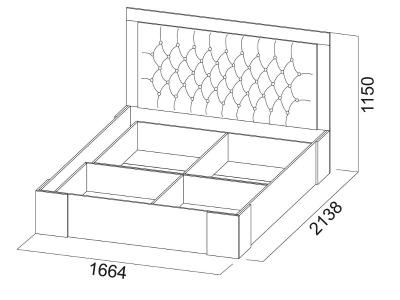 Кровать двойная 1600 Лагуна 6 с основанием 1664х1150х2138