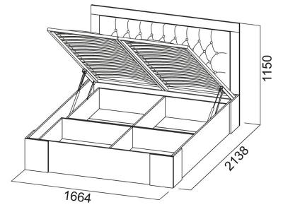 Кровать двойная 1600 Лагуна 6 с ПМ 1664х1150х2138