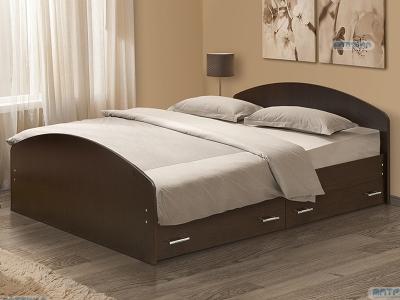 Кровать двойная на уголках №2 с ящиками Матрица