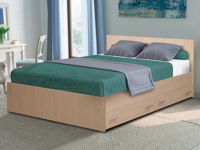 Кровать двойная на уголках №4 с ящиками Матрица