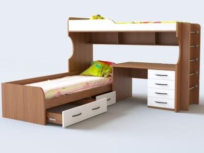 Кровать двухъярусная №12