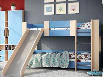 Кровать двухъярусная №6 с горкой