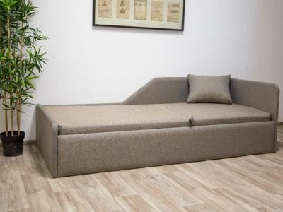 Кровать Калипсо мягкая Дуб сонома - ткань Тафт блю бежевый