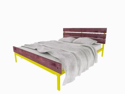 Кровать Луиза Plus желтая