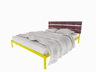 Кровать Луиза желтая
