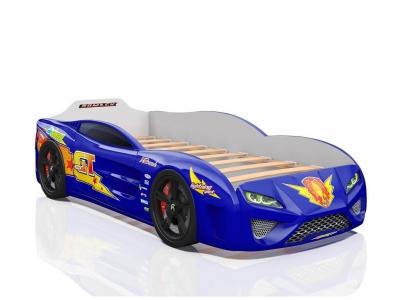 Кровать-машина Dreamer Молния синяя