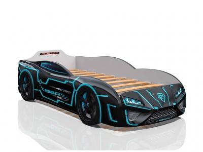 Кровать-машина Dreamer Неон черная