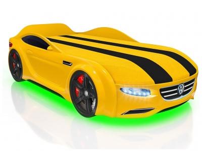 Кровать-машинка Romack Junior Passat желтая