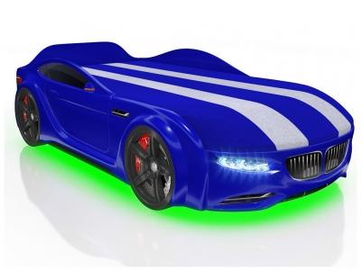 Кровать-машинка Romack Junior X5 Синяя