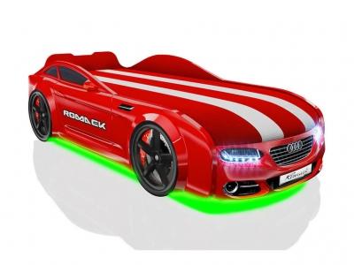 Кровать-машинка Romack Real-M А7 красная