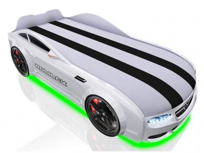 Кровать-машинка Romack Real-M AMG белая