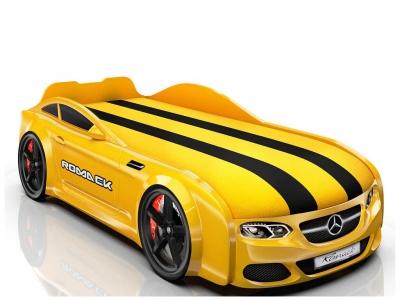 Кровать-машинка Romack Real-M AMG желтая