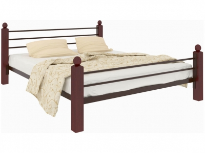 Кровать Милана Lux Plus коричневая