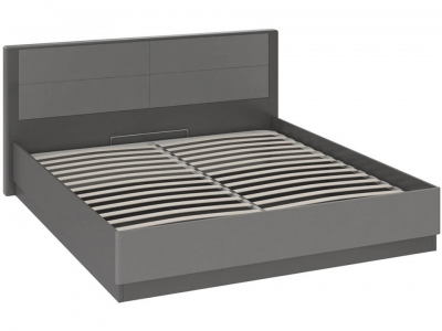 Кровать Наоми с ПМ СМ-208.01.02 Серый, Джут