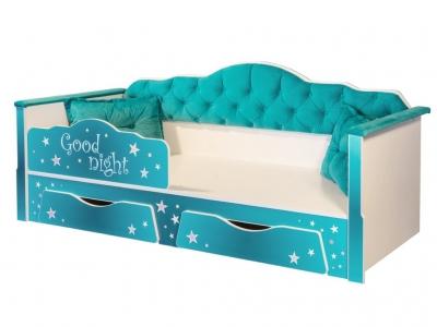 Кровать одинарная 01.34 Ноктюрн 180 бирюзовый
