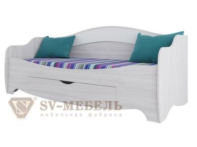 Кровать одинарная с одним ящиком Акварель-1 820х751х480