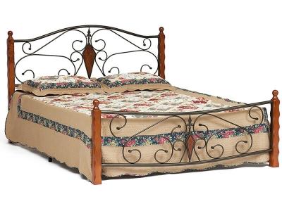 Кровать Viking (mod.9227) Queen Bed Красный Дуб