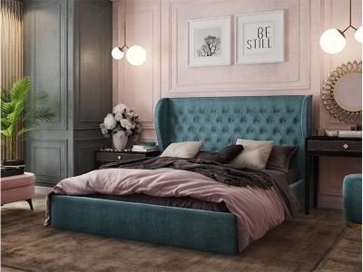Кровать Жасмин изумруд