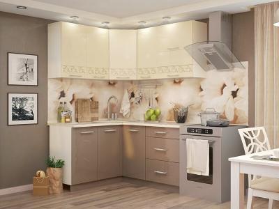 Кухня Латте угловая ваниль-кофе с молоком