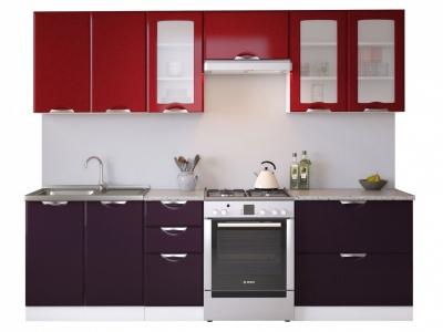 Кухня Равенна Вива 2,6 м бордо/фиолет
