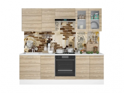 Кухонный гарнитур Полонез 2400 Сосна Бран